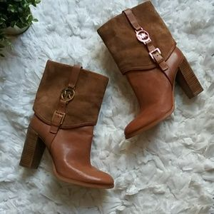 Michael Michael Kors camel leather boots